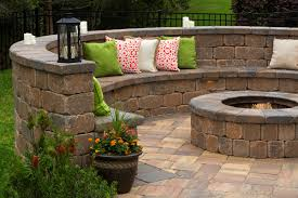 Concrete Block Garden Wall by Hardscape Materials Hi Way Concrete Products Wareham Ma