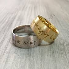 Engraved Name Rings 14k Gold Couples Band Rings Wedding Rings Engraved Name Rings