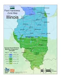 Map Of Central Illinois by New Usda Plant Hardiness Zone Map Illinois State Climatologist