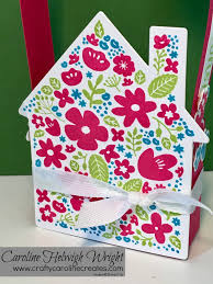 craftycarolinecreates new home gift bag video tutorial with