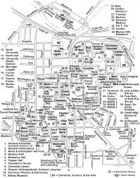 San Francisco State University Map by University Of Michigan Central Campus Map Michigan Map