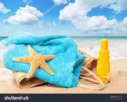 Beach Basket Holiday Beach Basket Towel Sun Tan Stock Photo 93661393 Shutterstock