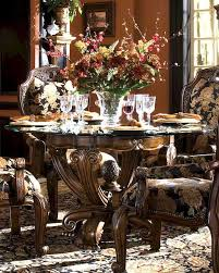Michael Amini Dining Room Sets Round Dining Table Oppulente In Sienna Spice Ai 67001 67101 52