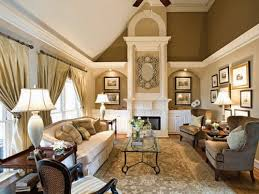 elegant winter gold living room with vaulted ceiling decor ideas