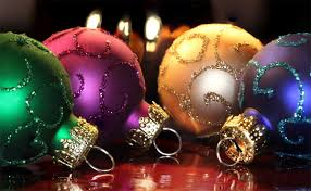 amazing and colorful ornament balls