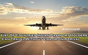 where can i travel without a passport images List of countries indian passport holders can travel without visa jpg
