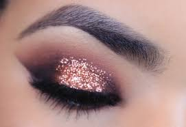rose gold glitter makeup tutorial youtube