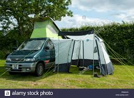 Campervan Awning A Mazda Bongo Campervan With Side Awning On A Camp Site Near