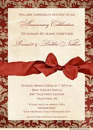 40th wedding anniversary party ideas 40th anniversary party card 40 years of vintage style