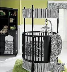 black round crib with drawers and green rug and white curtains  with black round crib with drawers and green rug and white curtains from ghollabcom