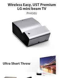 lg home theaters lg central america and caribbean lg ph450u mini beam tv projector ust 1280x720 450 ansi bluetooth