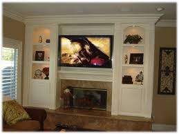 living room sophisticated wall entertainment centers with fireplace at built in center from built in