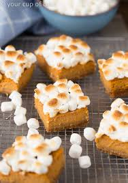 sweet potato pie bars for thanksgiving dessert your cup of cake