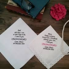 wedding gift personalised of the handkerchief bridal bling australia