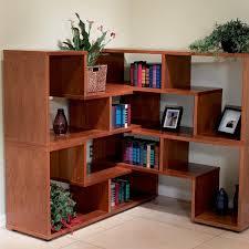 modern corner bookcase wood doherty house stylish and modern