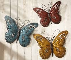 outdoor metal wall sculptures metal butterfly wall fence