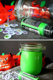 Mason Jar Halloween Glow In The Dark Halloween Candy Mason Jars