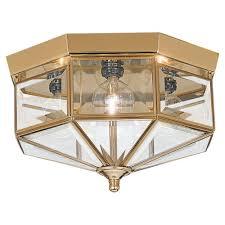 Large Flush Mount Ceiling Light by Sea Gull Lighting Grandover 4 Light Polished Brass Flushmount 7662