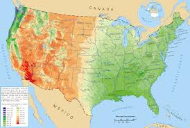 Large Map Of The United States by Large Average Precipitation Map Of The Usa Usa Maps Of The Usa