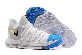 2017 nike kd 10 white blue gold for sale cheap kd 10 sale