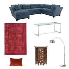 cindy crawford home metropolis indigo left 3 pc sectional online