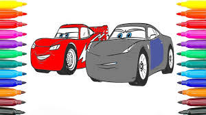 how to draw cars 3 lightning mcqueen and cruz ramirez coloring