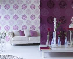 Wallpaper Home Decor Modern Purple Wallpaper For Bedroom Descargas Mundiales Com