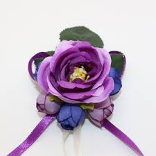 purple corsage 2 pcs lot handmade purple guest boutonniere pins wedding flower