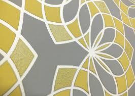 geometric wallpaper modern glitter embossed bold funky grey yellow