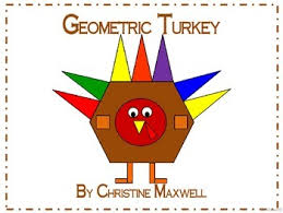 thanksgiving geometric turkey 2d shapes by christine maxwell