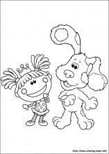blues clues cleaning blue u0027s clues coloring pages