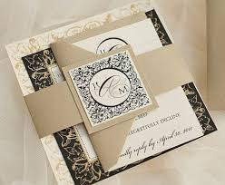 black and gold wedding invitations as seen on style me pretty wedding invitation suite with