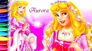 disney princess sleeping beauty aurora coloring book pages speed