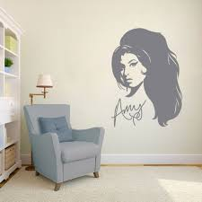 wall stickers custom decals ns vinyls com fashion drawing wall art sticker 13 00 amy winehouse cream room sticker jpg
