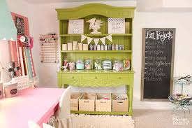 Pink Craft Room - a peek into my craft room design dazzle