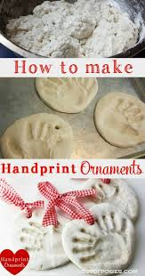 how to make handprint ornaments great gift for the grandparents