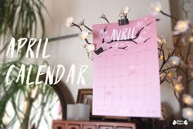 april printable calendar papier bonbon