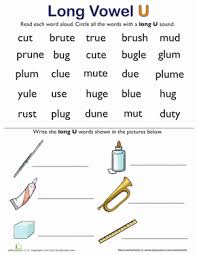 learning long vowels long u words 2 worksheet education com