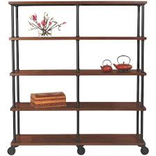 Home Decoraters Home Decorators Collection Industrial Mansard Black Open Bookcase