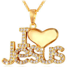 gold love pendant necklace images Gold plated christian jewelry quot i love jesus quot pendant necklace jpg