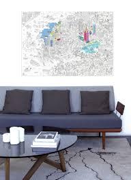 papier peint a colorier poster à colorier new york 100 x 70 cm new york omy design u0026 play