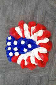 spruce up your door with a 4th of july deco mesh wreath
