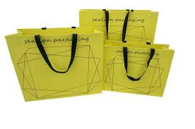 custom wholesale recycled paper shopping bags with clients logo