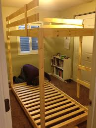 Making Wooden Bunk Beds by Somehow It All Came Together The Great Triple Bunk Bed Build
