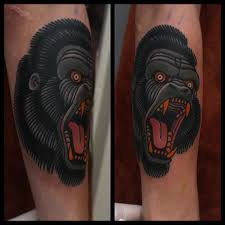 18 eye catching gorilla head tattoos tattoodo