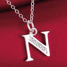 silver necklace sale images Fashion letter n silver plated necklace new sale silver necklaces jpg