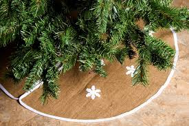 amazon com rustic burlap christmas tree skirt 36