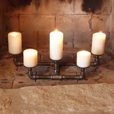 Fireplace Candle Holders by Designs U2013 Pipe Decor