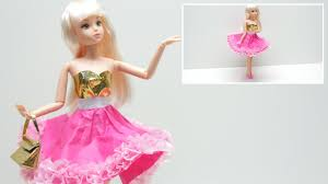 doll dress diy how to make a doll dress in pink and gold tissue