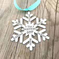 personalized snowflake ornament family ornament